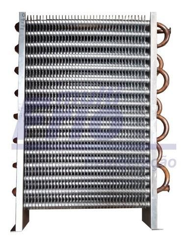Evaporador Aletado de Cobre Vertical 1/2 20 Tubos