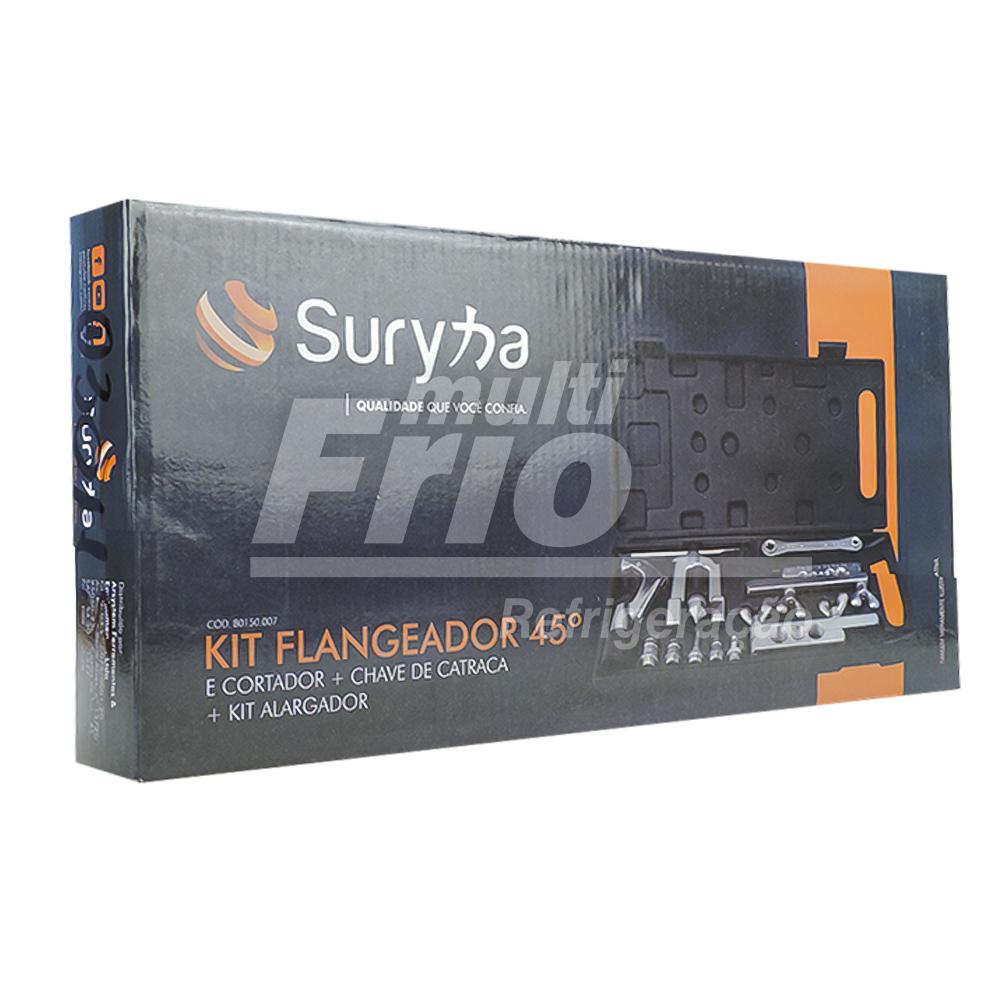 Flangeador 1/8 a 3/4 + Chave Catraca 3/16 a 3/4 + Cortador Suryha