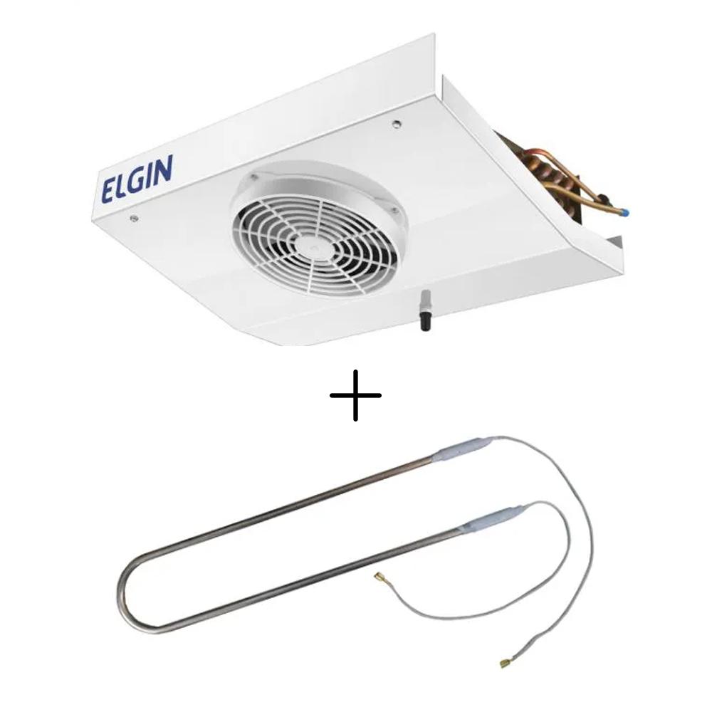 Kit Forçador Evaporador Elgin VCM-0016-E Visa Cooler + Resistência 500W Para Forçador VCM 220V
