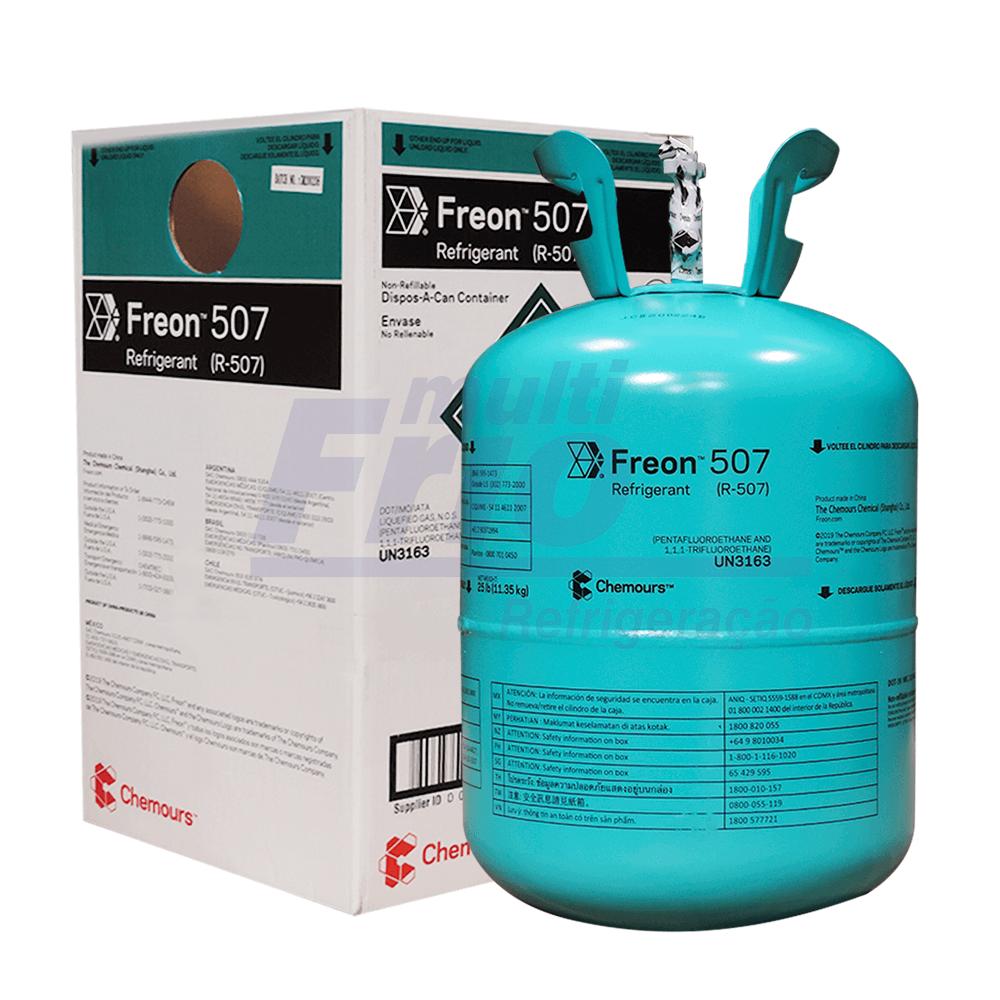 Gás Botija R507 A CHEMOURS 11,35 kg Refrigerante