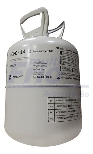 Gás Fluído 141b R11 Freon Chemours Dupont Botija 13,6Kg Original