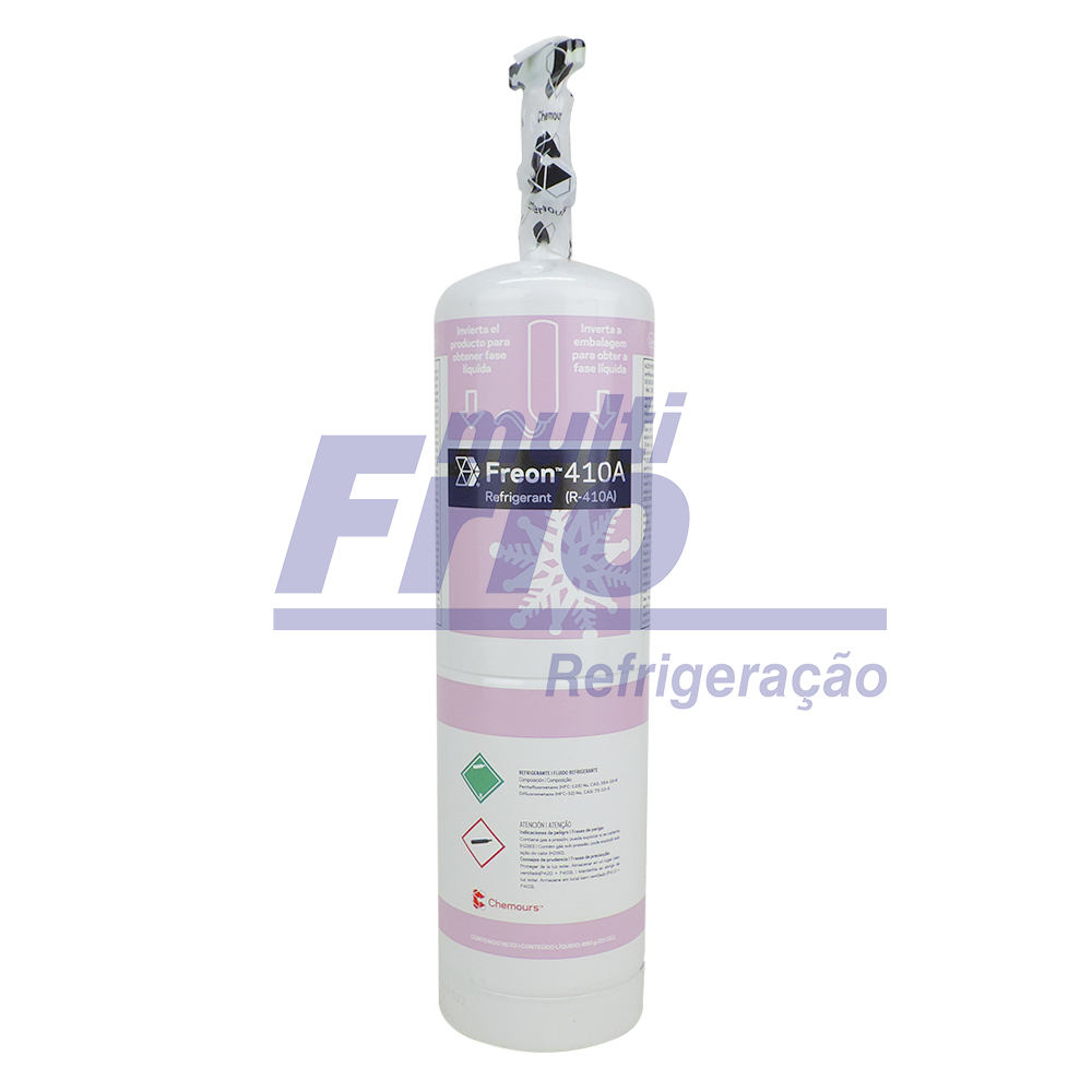 Gás R410A Freon Chemours 650g Lata