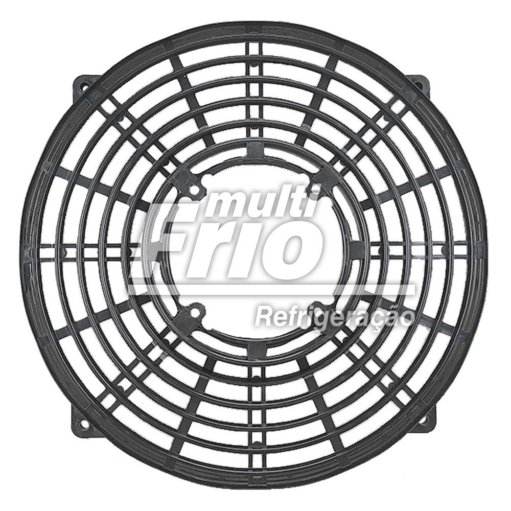 """Grade Plástica Para Hélice Micro Motor 10"""" Preta"""