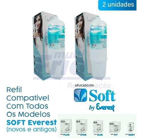 KIT 2 Refis Filtro Para Purificador de Água Soft Everest