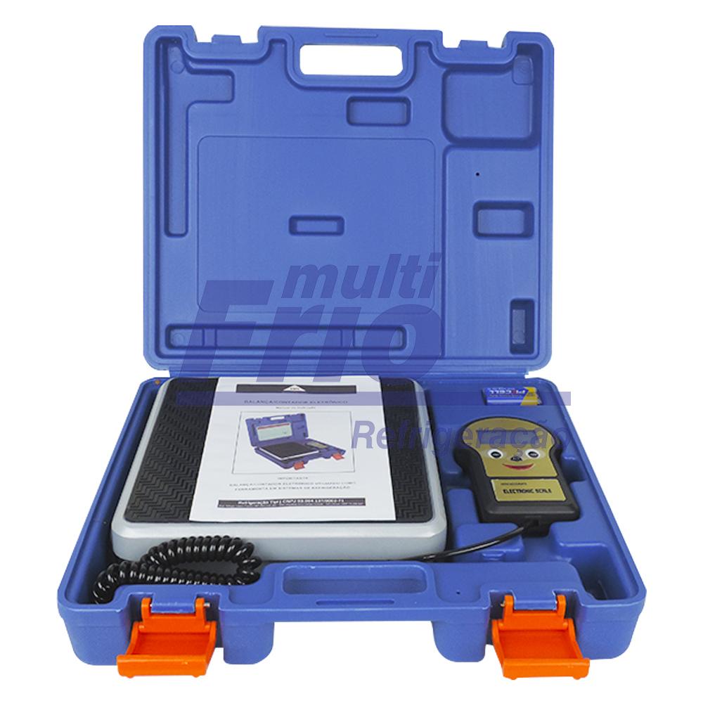 Kit  Bomba de vácuo 6 cfm + Manifold + engate rápido baixa e alta + Balança Digital + refrigerante R134a Botija 13,6kg