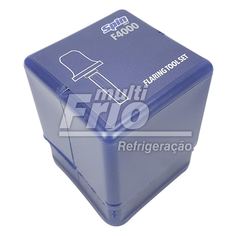 """Kit Broca Flangeador Spin De Tubos 1/4"""" 3/8"""" 1/2"""" 5/8"""" + Case Spin Para Flangeador CF600 (bolsa)"""