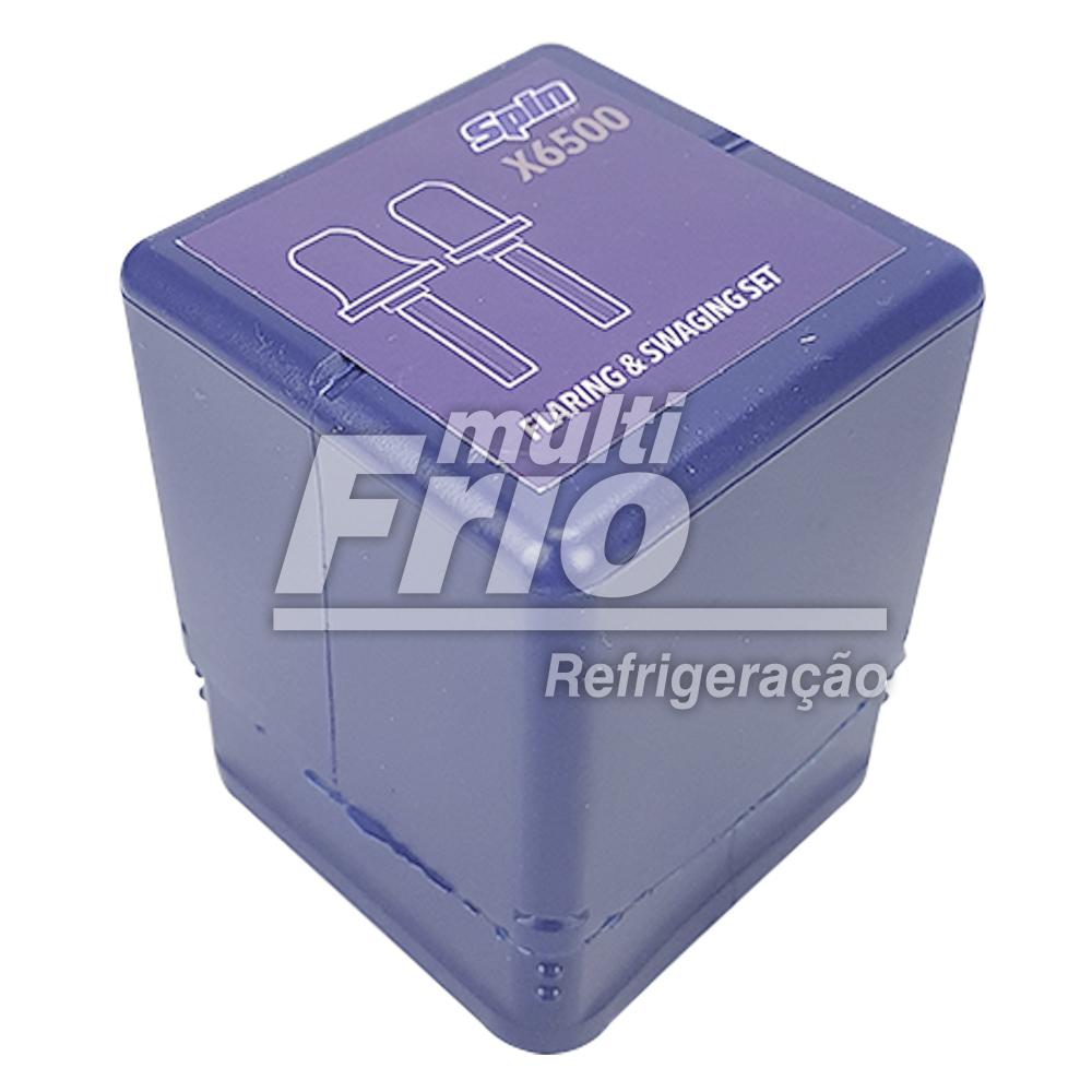 """Kit Broca Spin Alargador e Flangeador 1/4"""" 5/16"""" 3/8"""" para Linha Branca + Case Spin CF600 (bolsa)"""