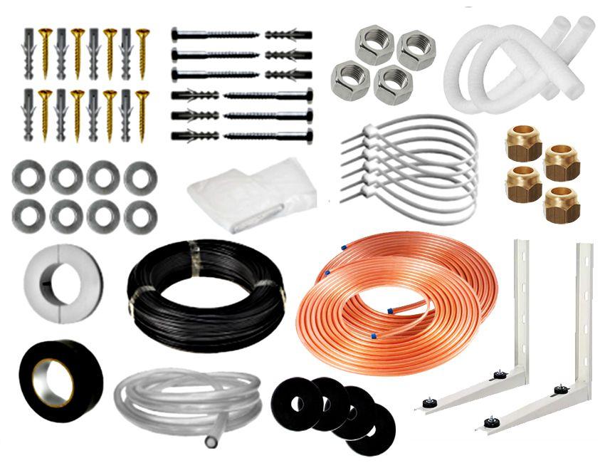 Kit Instalação de Ar Condicionado Split 7K e 9K BTUS Condensadora Redonda/Barril - 3 metros (Suporte 450MM)