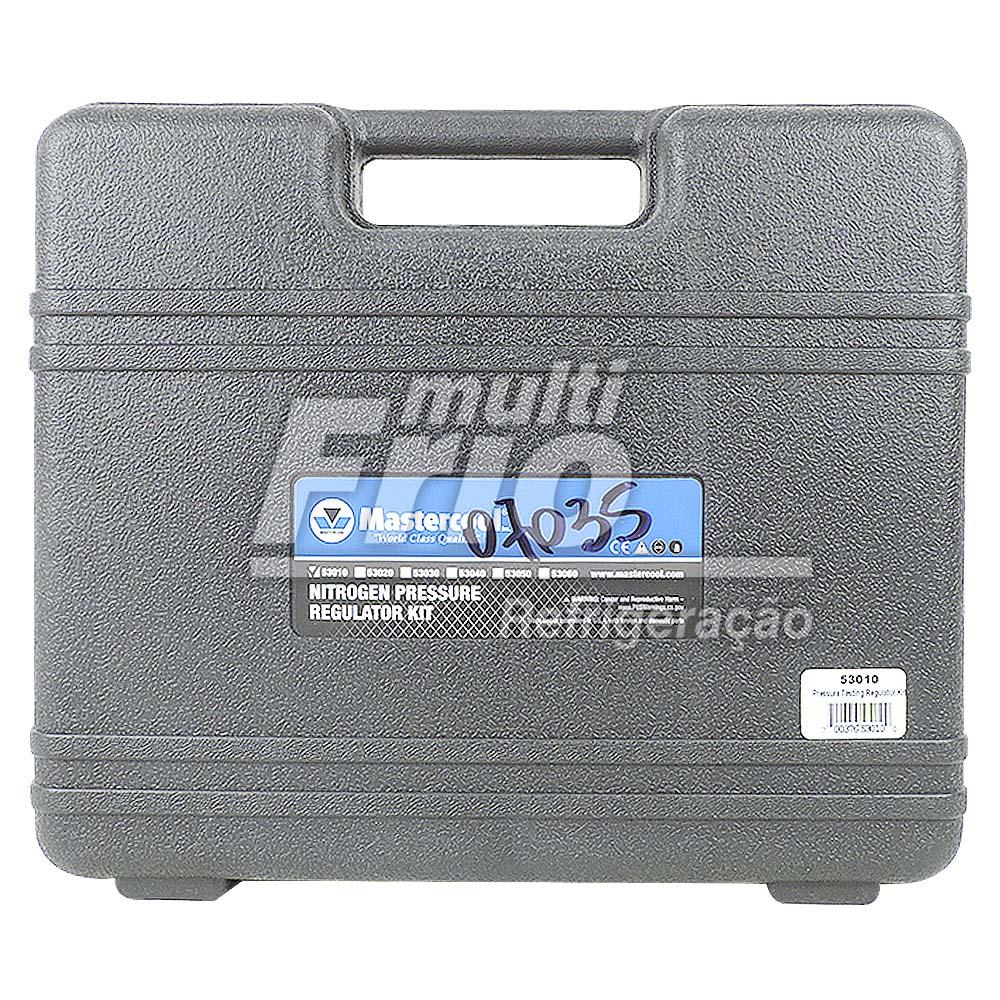 Kit Regulador de Nitrogênio C/ Mangueira e Manômetro (Com Maleta)
