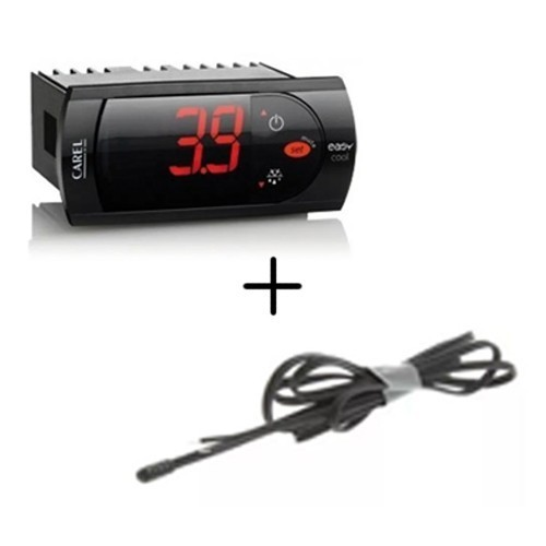 Kit Termostato Carel Pjezs00000 230v + Sensor de Temperatura 1,5M Carel