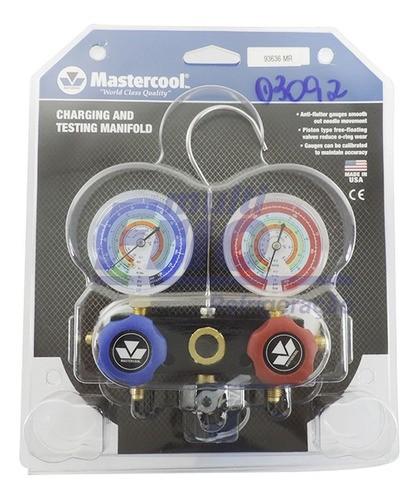 Manifold Mastercool de Alumínio R12 R22 R404A R134A (93636-MR)