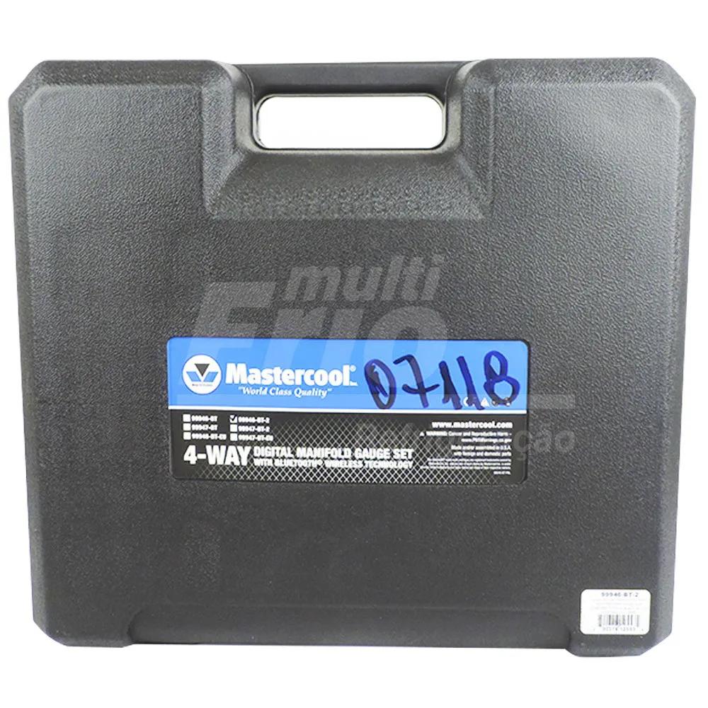 Manifold Digital Mastercool Spartan 4 Vias Digital Com Vacuômetro com 4 Mangueiras