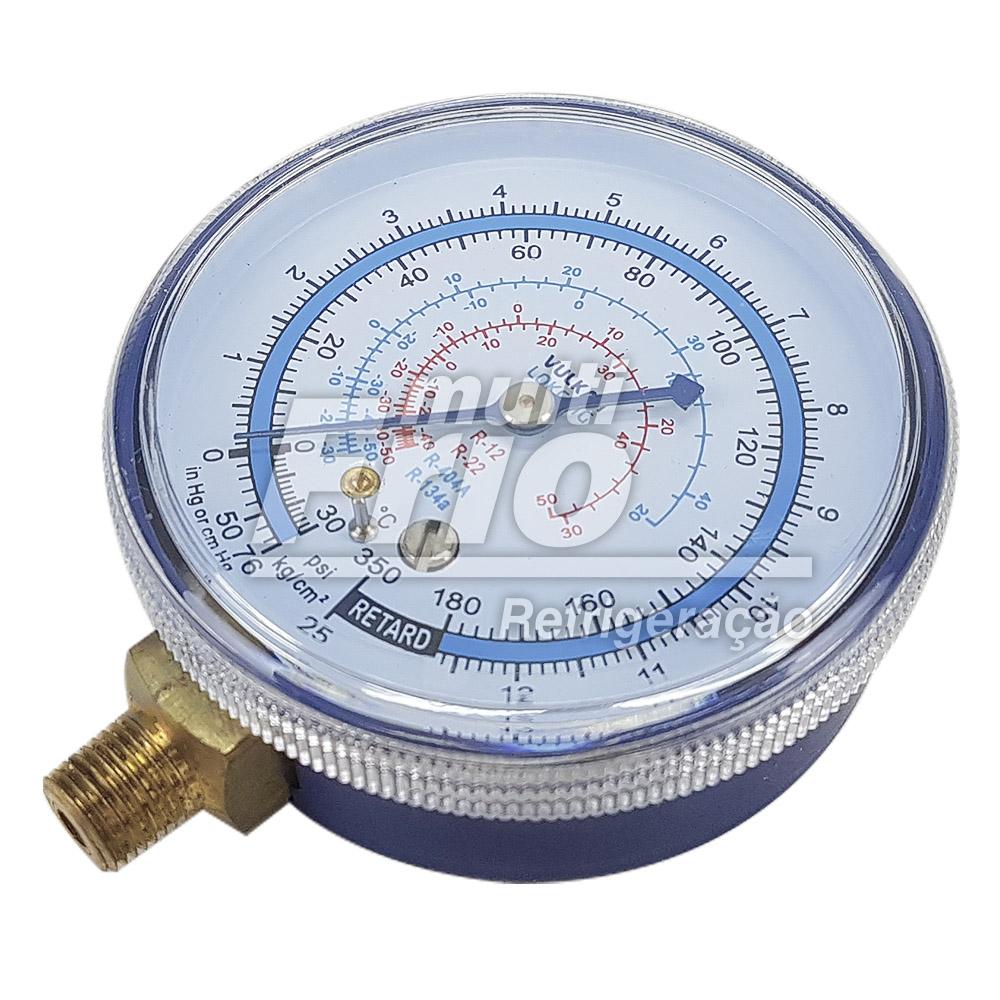 Manômetro De Baixa Gás R12, 22, 134a, 404a 30 A 250 Psi