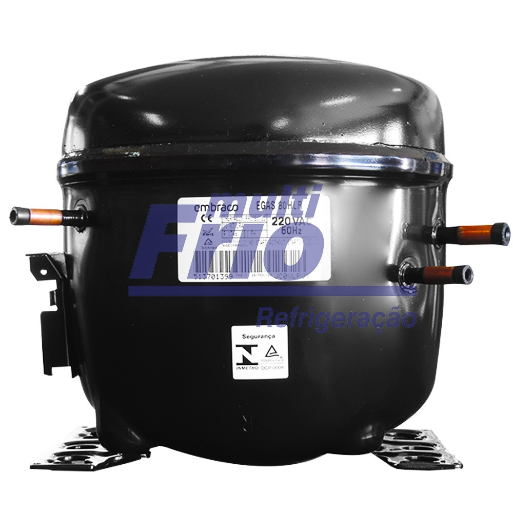 Motor Comprenssor EMBRACO 1/4+ HP EGAS 80HLR 220V R134a