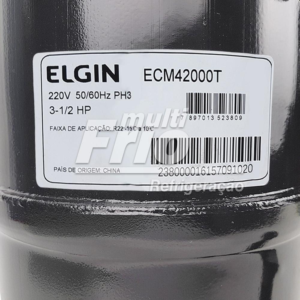 Motor Compressor 3,5 HP Elgin ECM-42000-T Trifásico 220V R22 Média