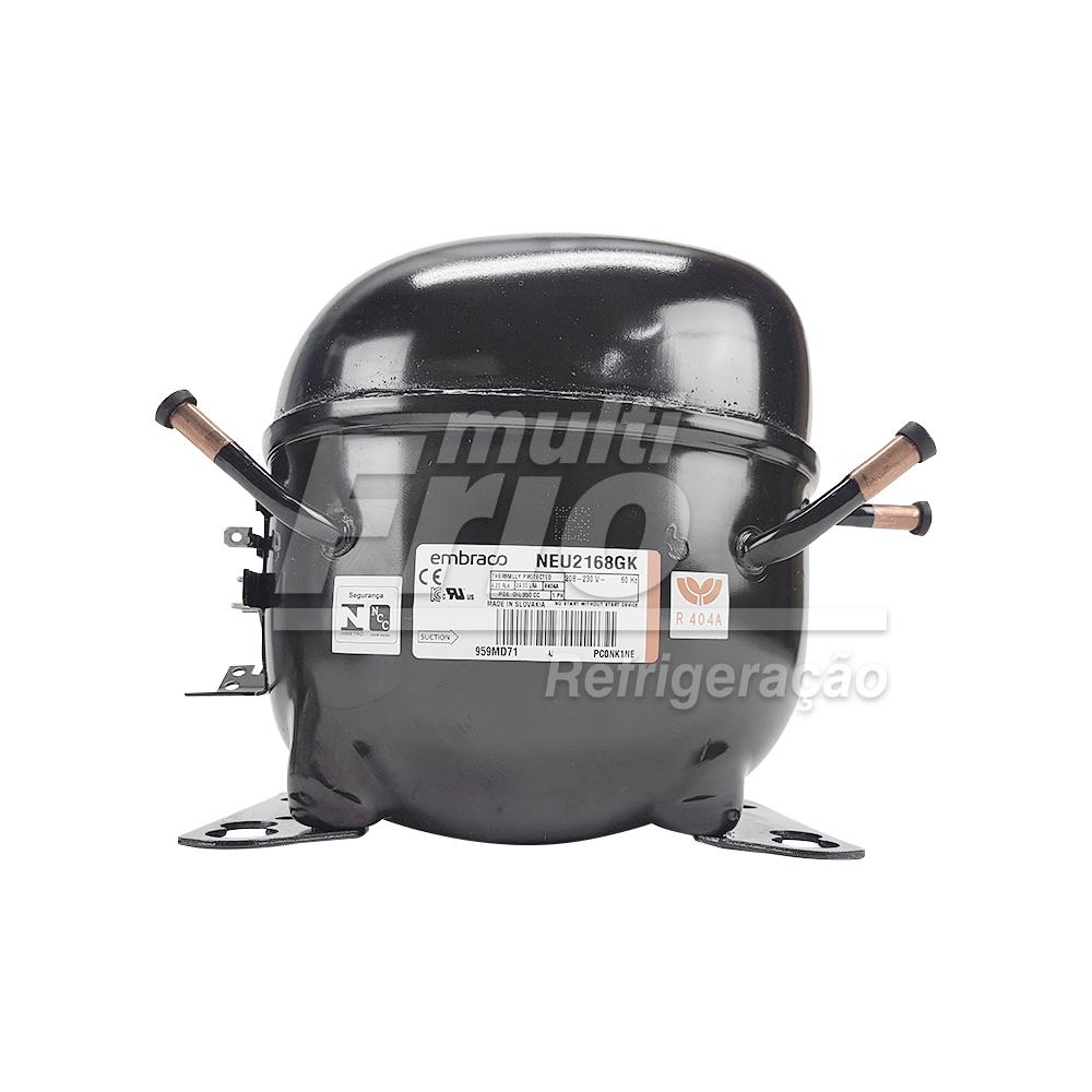 Motor Compressor Aspera Embraco NEU2168GK 3/4HP R404A Baixa Monofásico 220V