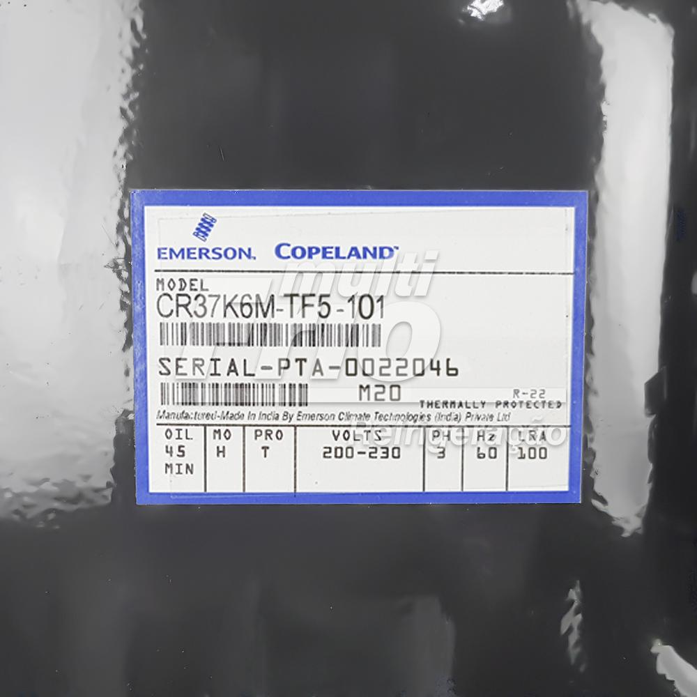 Motor Compressor Copeland 3,5 HP CR37K6M-TF5-101 R22 Média Trifásico 220V