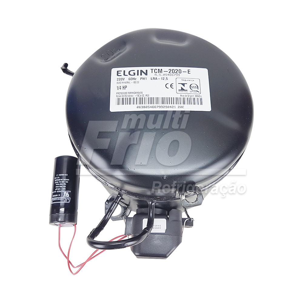 Motor Compressor Elgin 1/4 Hp 220v Tcm2020 E R22