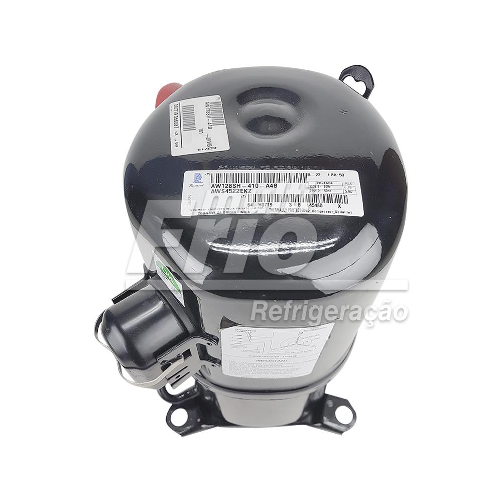 Motor Compressor Tecumseh Lunite 2.0HP AWS4522EKZ R22 Média Trifásico 220V