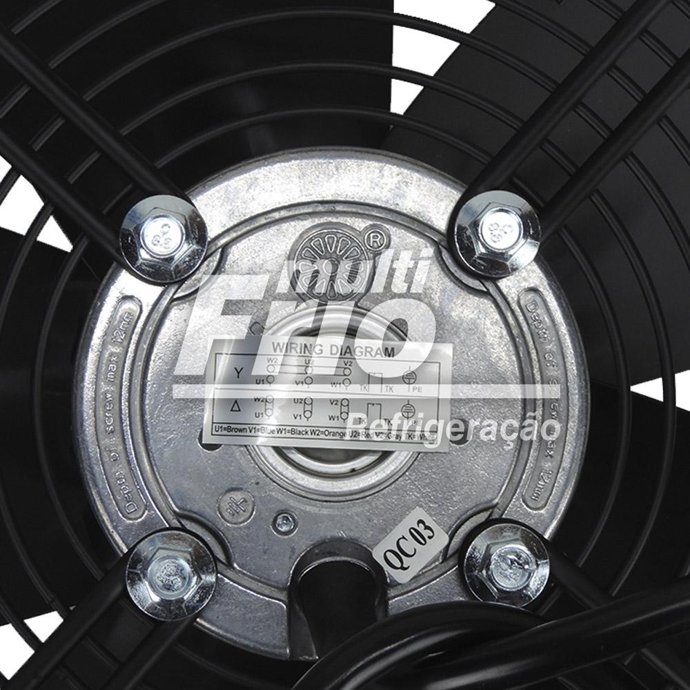 Motoventilador Axial 400mm Elgin Heatcraft 220V a 380V Trifásico