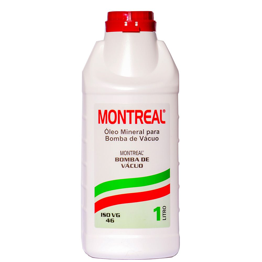 Óleo Mineral Para Bomba De Vácuo Iso Vg 46 Montreal 1 Litro