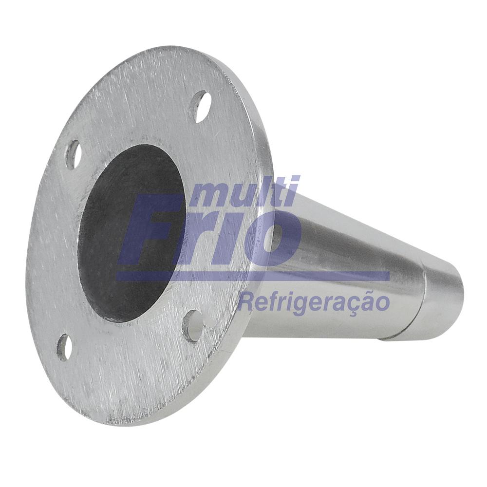 Pé Para balcão em Alumínio Polido 10 CM
