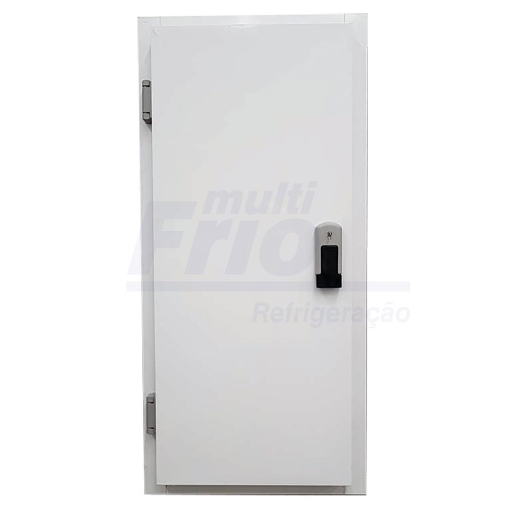 Porta Giratória Com Chave e Abertura Para o Lado Esquerdo Para Câmara Fria de Resfriados Com 3 Batentes 1,80 X 0,80 M