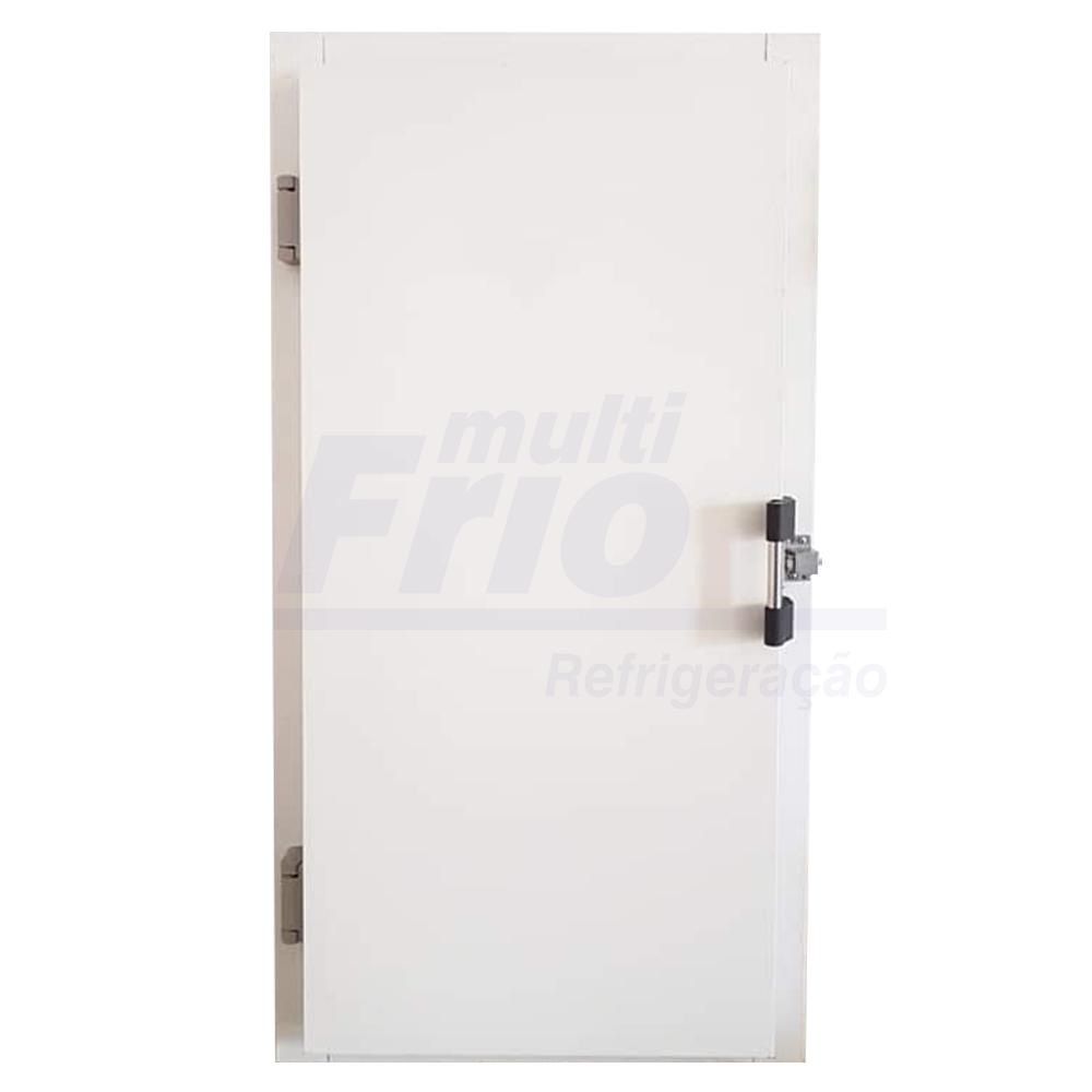 Porta Giratória Com Puxador e Abertura Para o Lado Esquerdo Para Câmara Fria de Resfriados Com 3 Batentes 1,80 X 0,80 M
