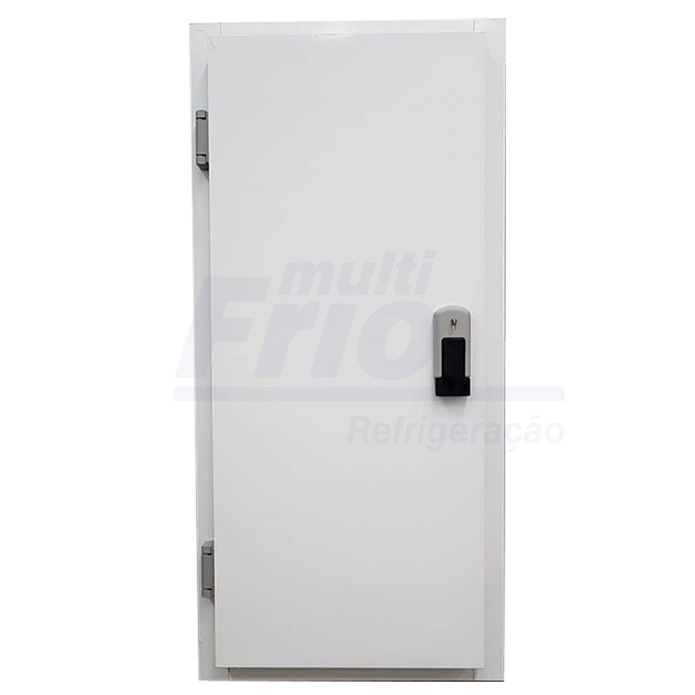 Porta Giratória Com Chave e Abertura Para o Lado Esquerdo Para Câmara Fria de Resfriados Com 3 Batentes 2,00 X 1,00 M