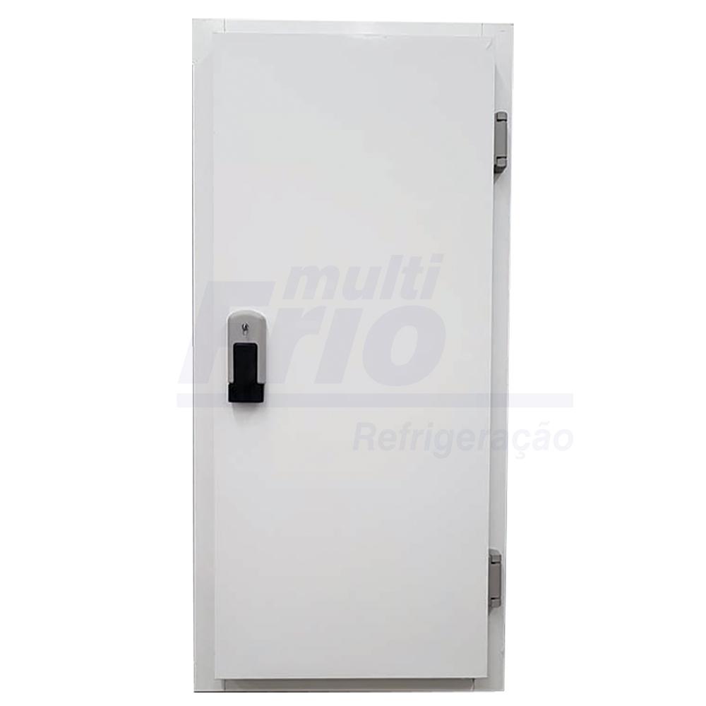 Porta Giratória Com Fechadura Com Chave e Abertura Para a Esquerda Com 4 Batentes Para Câmara Fria de Resfriados 2,00 X 1,00 Metros