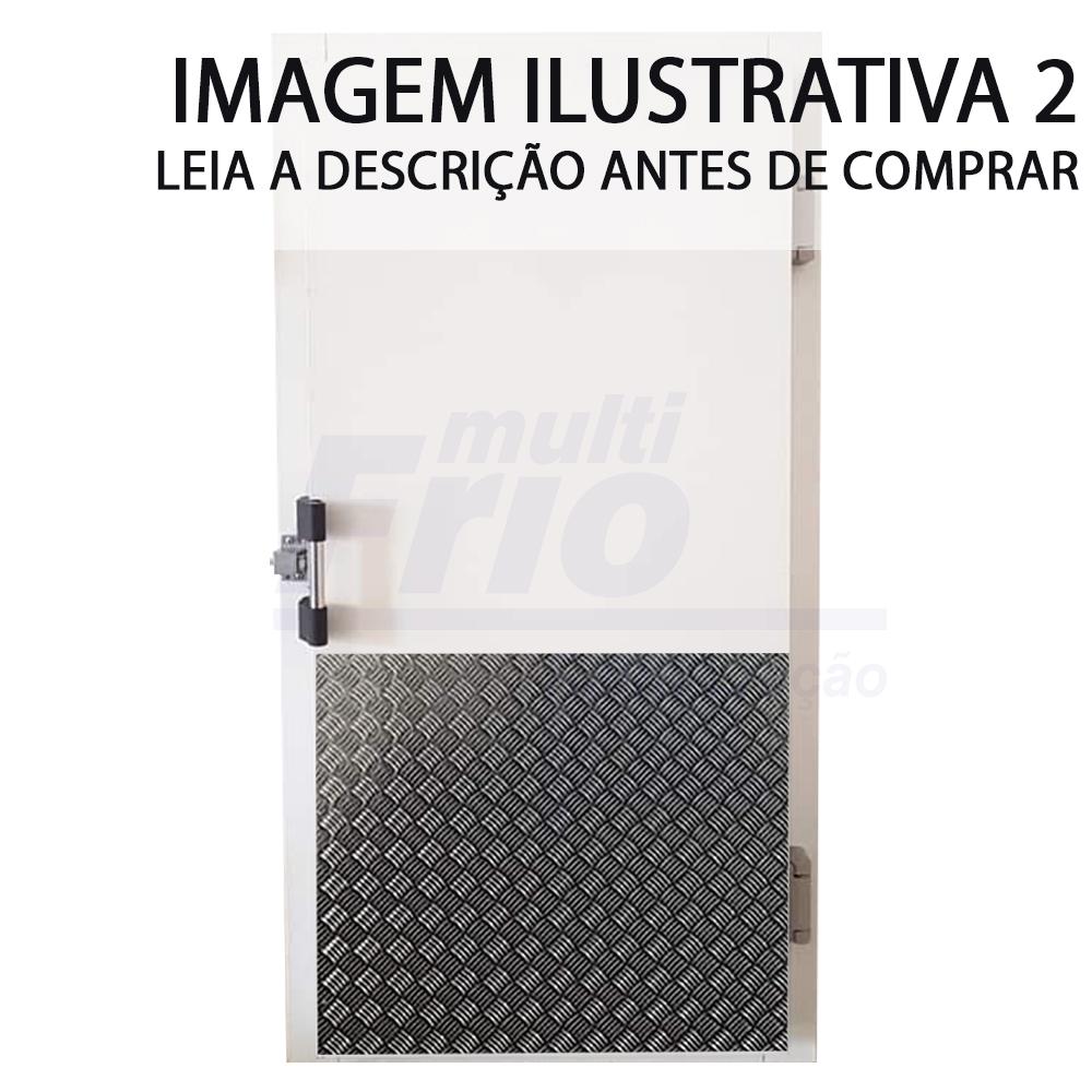 Porta Giratória Com Puxador e Abertura Para a Direita Com 3 Batentes Para Câmara Fria de Congelados 2,00 X 1,00 Metros