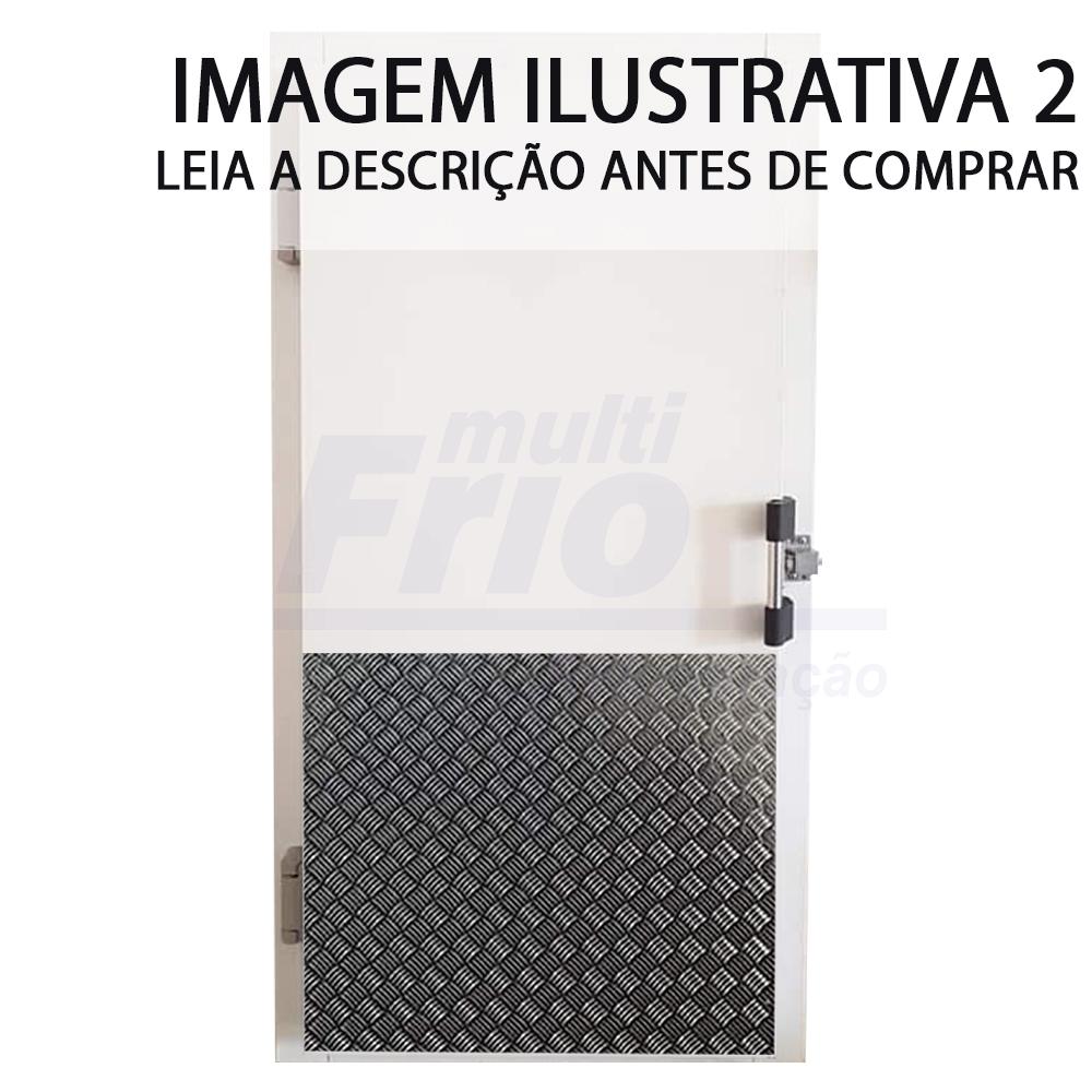 Porta Giratória Com Puxador e Abertura Para a Esquerda Para Câmara Fria de Congelados Com 3 Batentes 2,00 X 1,00 M