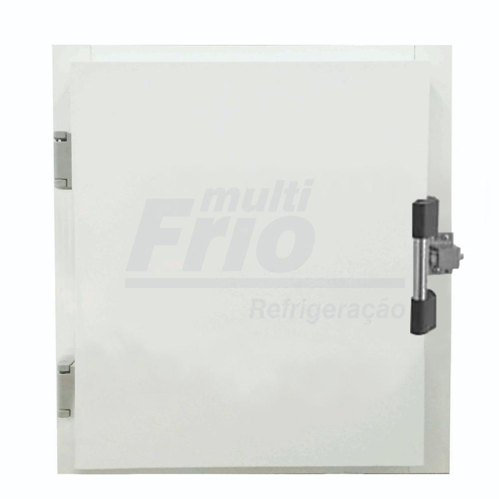 Porta Giratória Portinhola Óculo Reversível Com Puxador 4 Batentes Para Câmara Frigorífica De Congelados 0,80 X 0,80 Metros