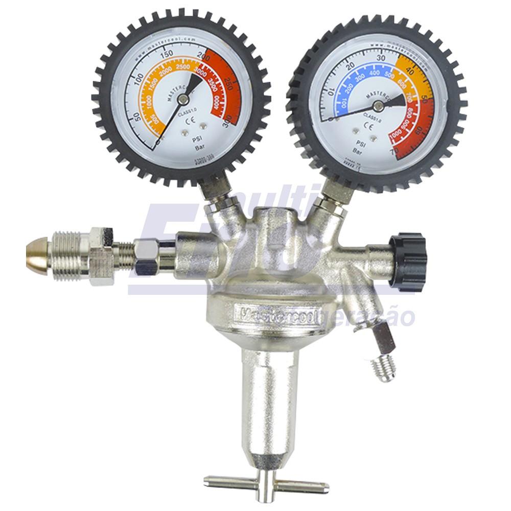 Regulador de Pressão Nitrogênio 70 a 300 BAR Mastercool 53001