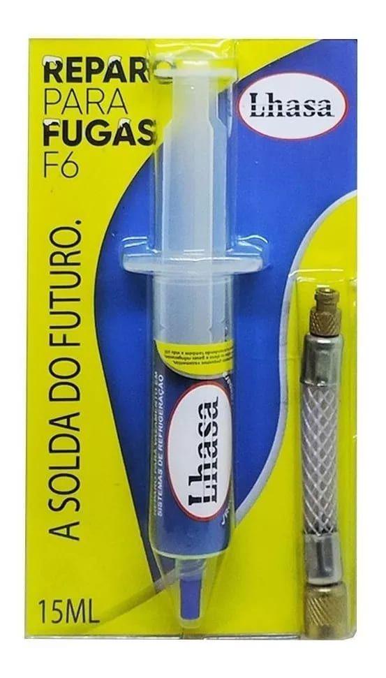 Reparo Tapafugas F6 De Vazamentos Refrigeração 15ml até 18 Mil BTUS