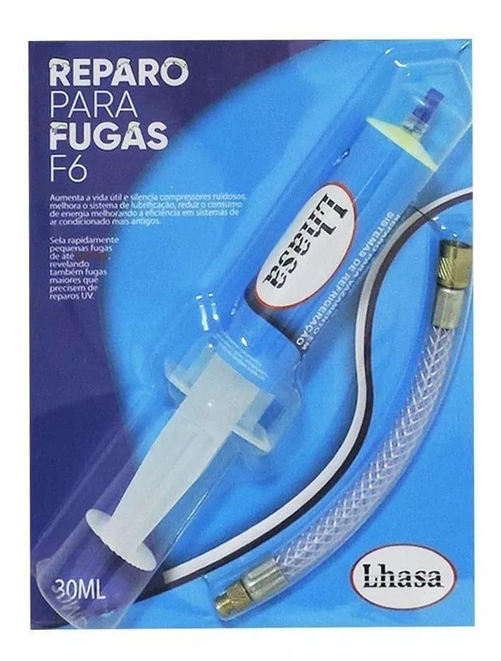Reparo Tapafugas F6 De Vazamentos Refrigeração 30ml até 36 Mil BTUS