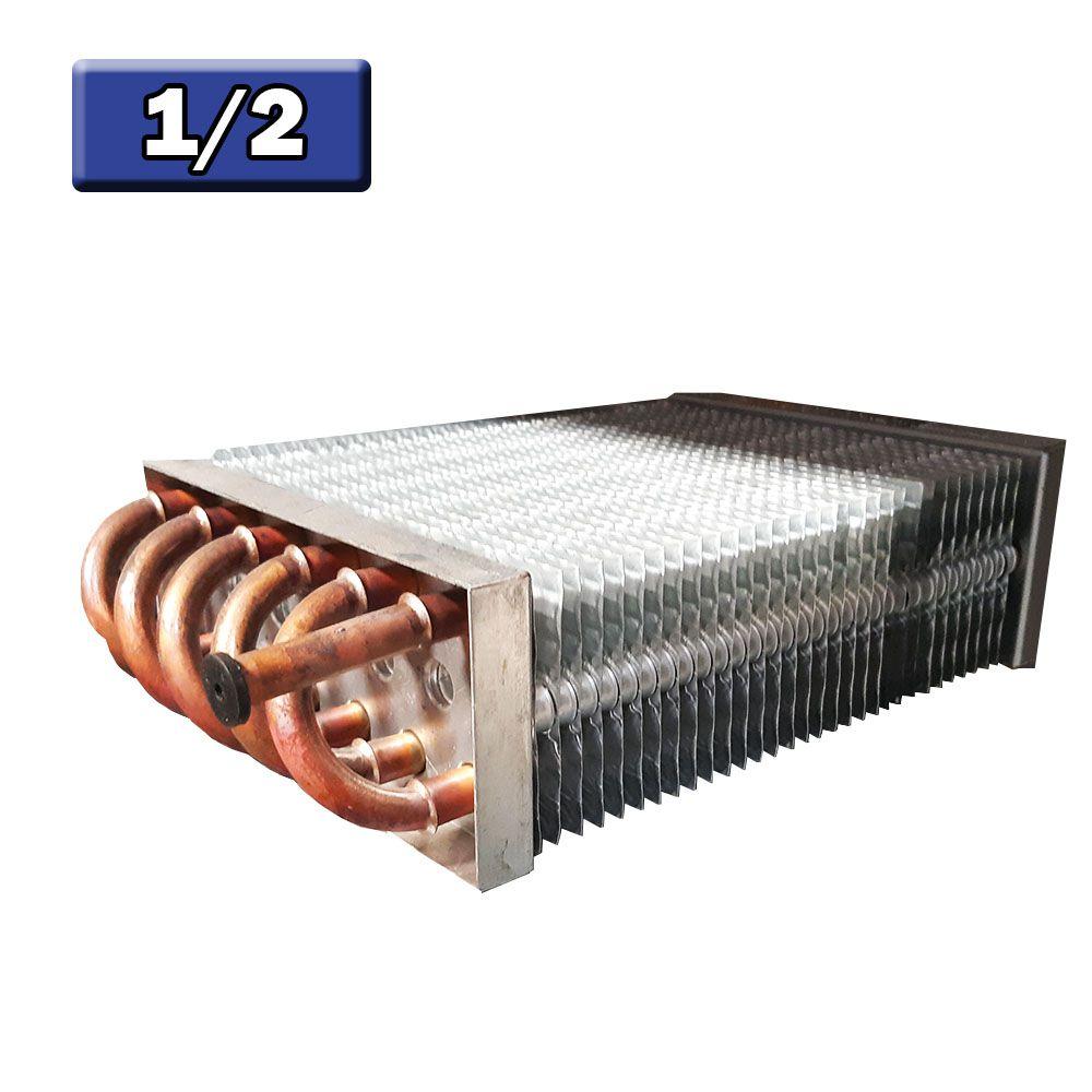 Evaporador Aletado de Cobre Vertical 1/2 12 Tubos