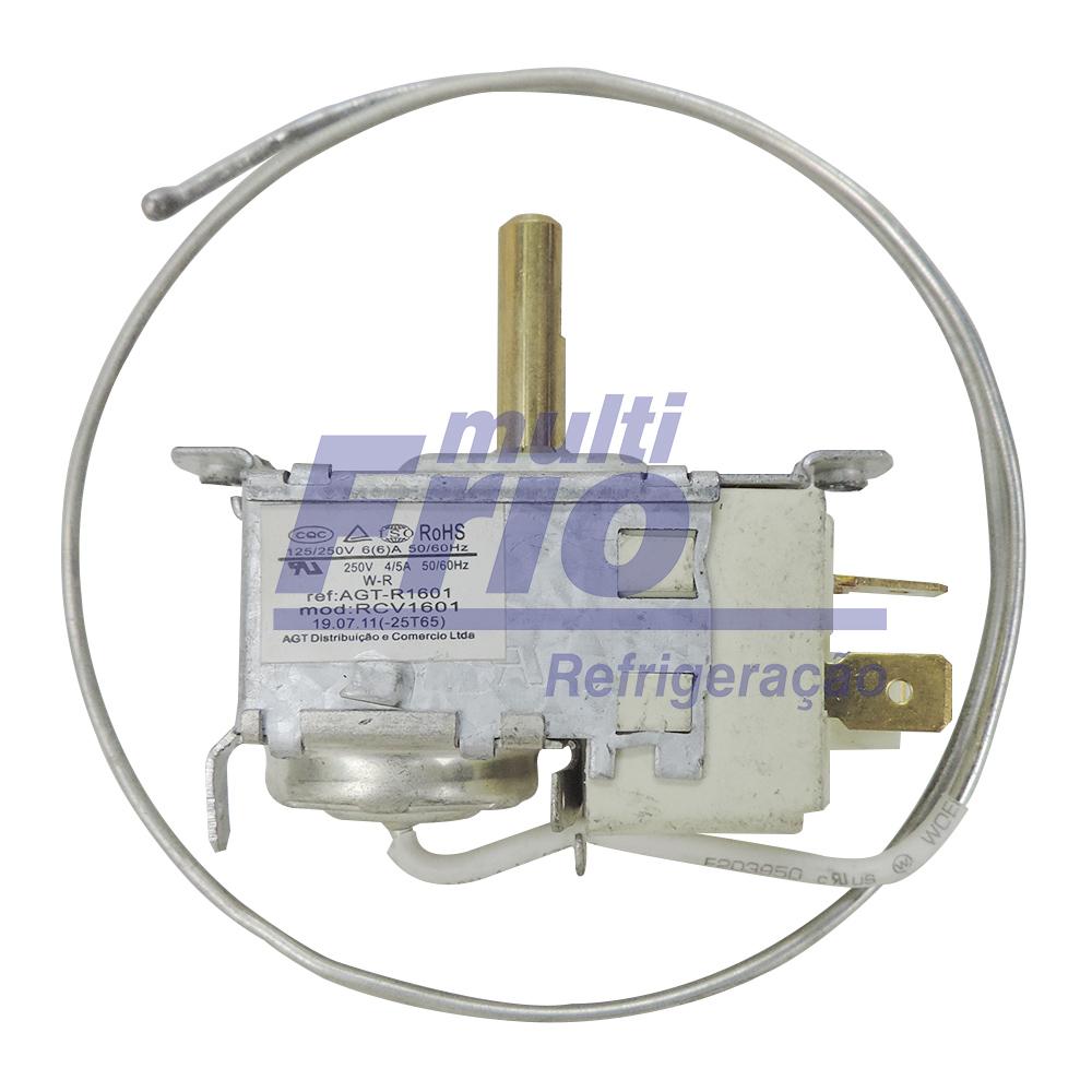 Termostato Ar Condicionado de Janela Brastemp e Consul 7.000 A 30.000 BTUS  50/60 HZ  125/250V  6A  com Chave Auxiliar (Haste longa)
