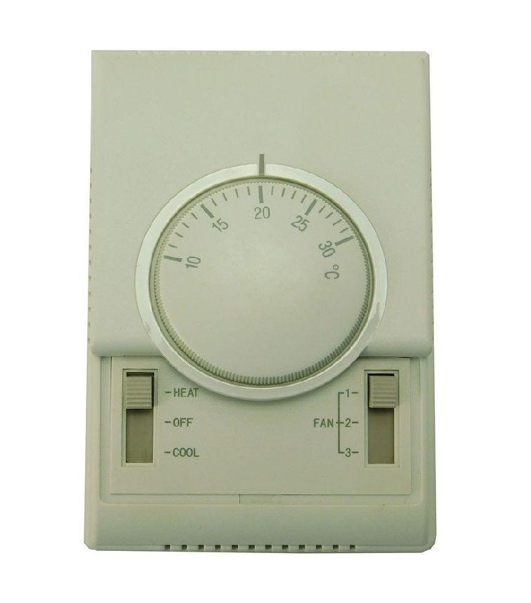 Termostato Mecanico Para Ambiente Quente e Frio 2 e 4 Vias 3 Velocidades