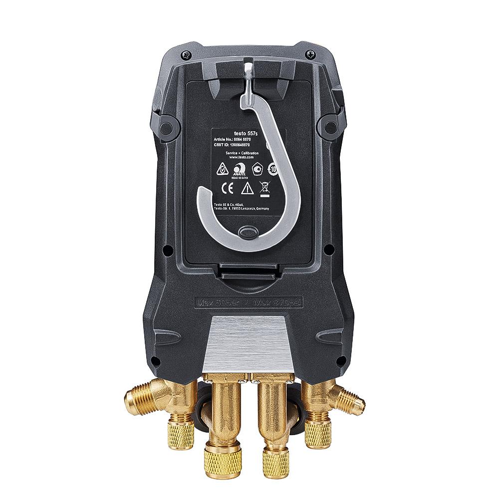 Testo 557s Manifold Digital 4 Vias Bluetooth 2 sondas de Temperatura Testo 115i Sem Fio + Vacuômetro 552i  Kit Smart Vacuo (0564 5571)