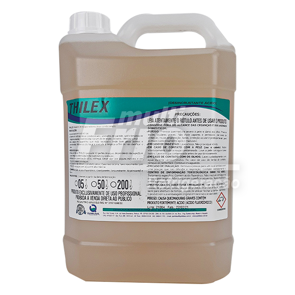 Thilex Desengraxante e Desincrustante Ácido 5 Litros