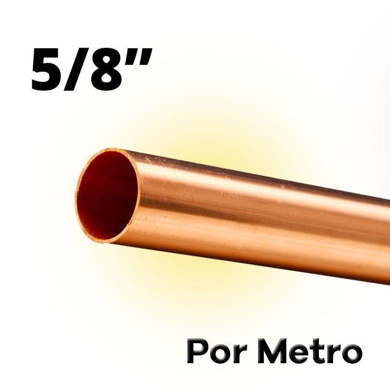 Tubo Cano Cobre 5/8 Flexível Por Metro