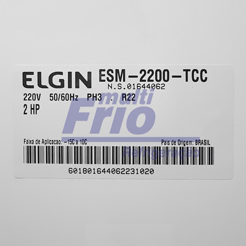 Unidade Condensadora 2 HP Elgin ESM 2200 Trifásico R22 220V