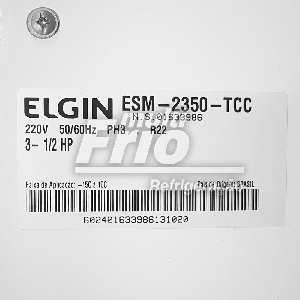 Unidade Condensadora 3,5 Hp Elgin ESM 2350 Trifásico R22 380V