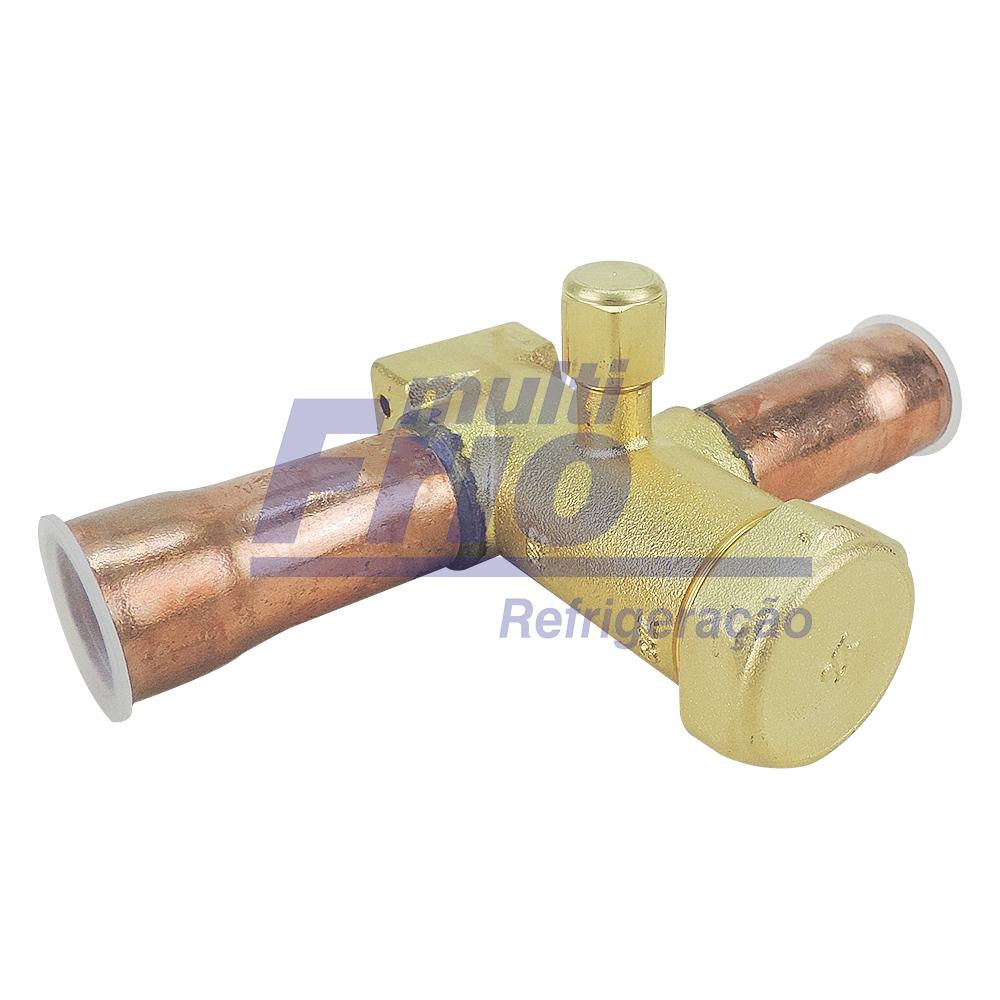 """Válvula de Serviço Para Condensadora 7/8"""" com Base de Fixação"""