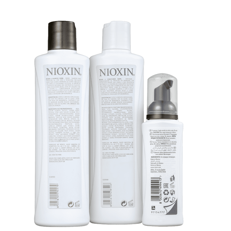 Kit Nioxin System 4 (3 Produtos)