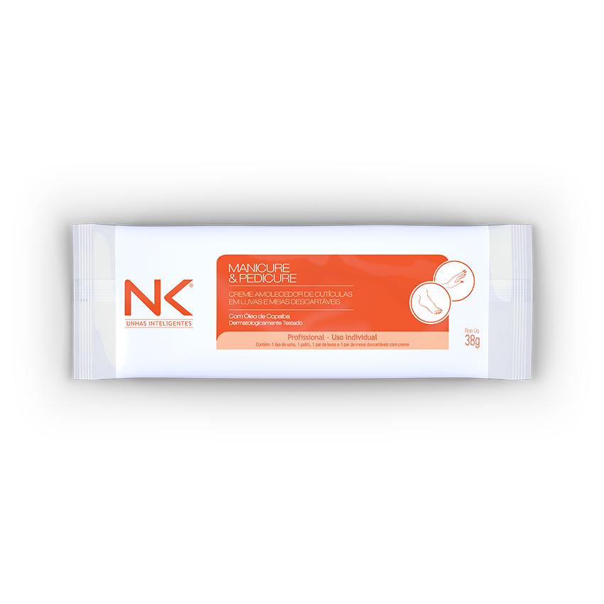Kit NK Double 50 pares Luvas/Meias com Creme Emoliente