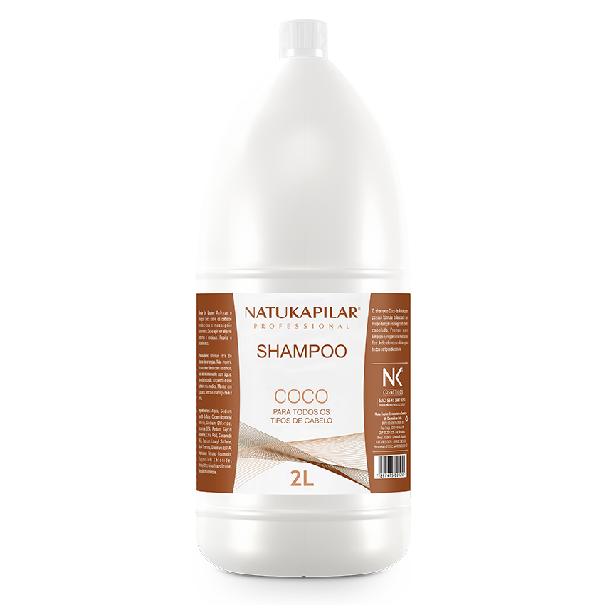 Shampoo Coco 2L - Caixa com 06 Galões