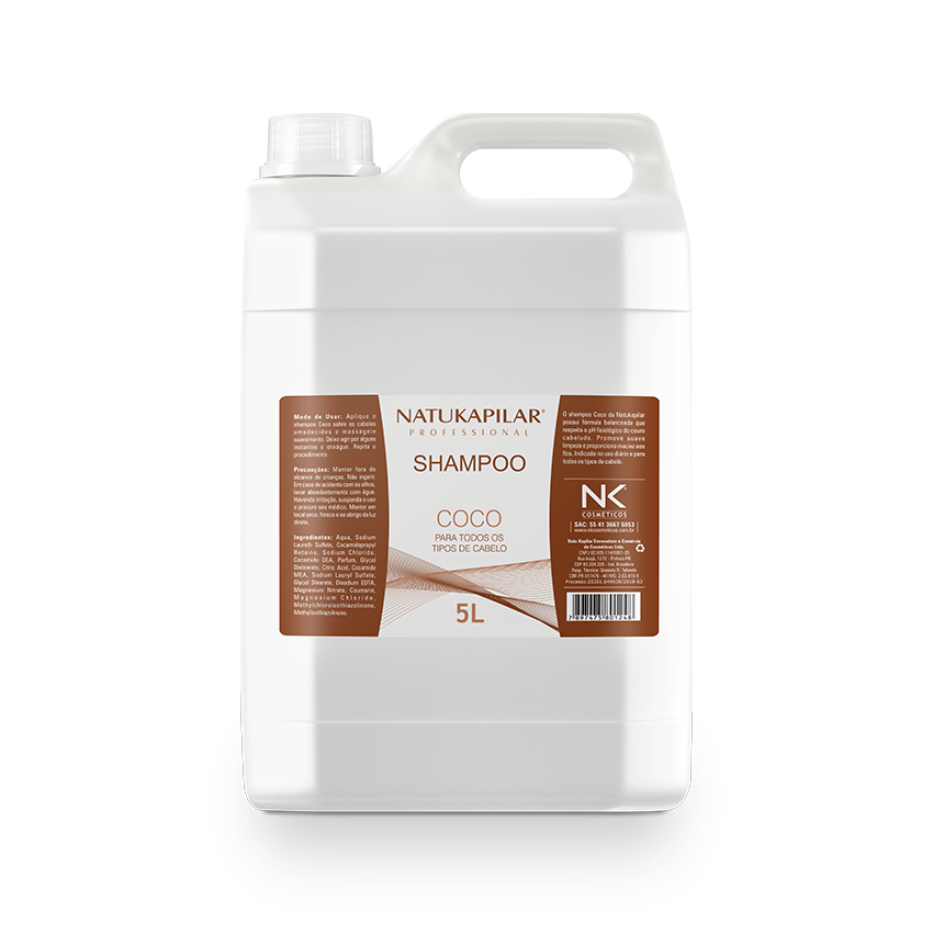 Shampoo Coco 5L - Caixa com 04 Galões