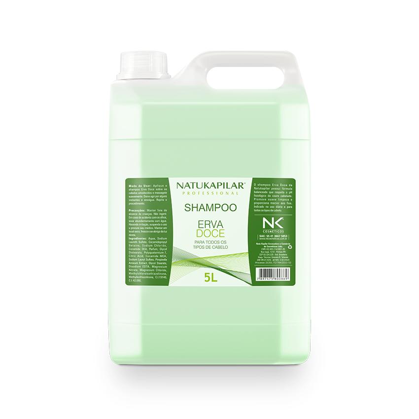 Shampoo Erva Doce 5L - Caixa com 04 Galões